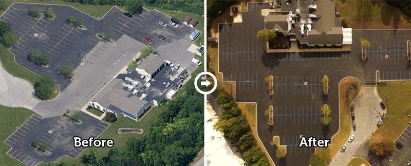 commercial parking lot repair