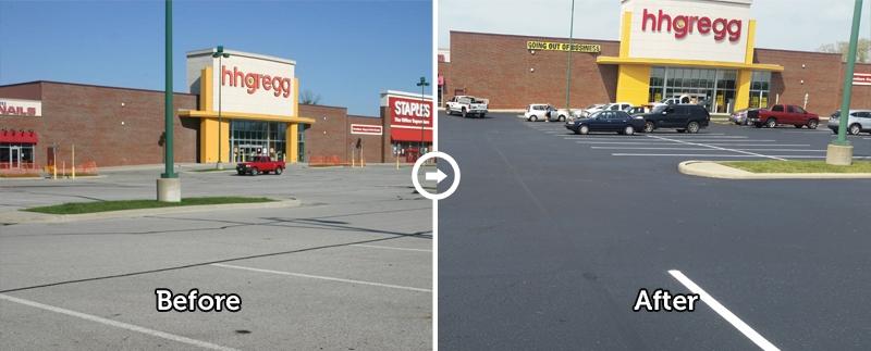 commercial parking lot sealcoating