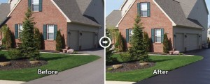 Powell Ohio residential driveway sealing